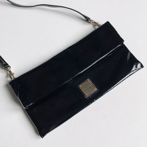Dooney & Bourke Fold-Over Patent Leather Clutch